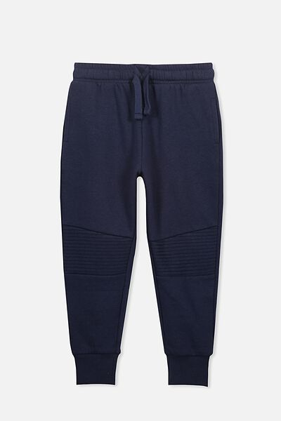 Lewis Trackpant, WASHED NAVY/MOTO PANEL