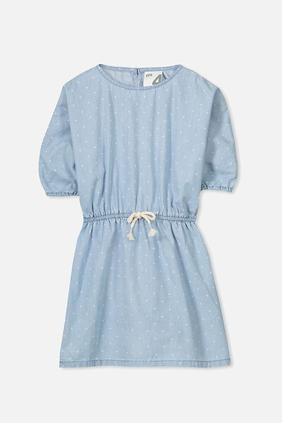 Maisie Long Sleeve Dress, LIGHT BLUE/DOT