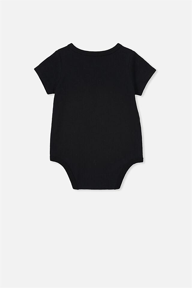 The Short Sleeve Bubbysuit, BLACK KIWI FERN