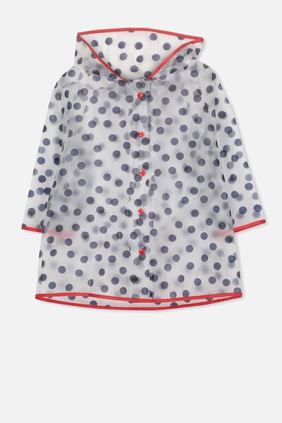 Cloudburst Raincoat, NAVY SPOT