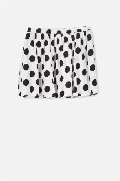 Cathy Skirt, WHITE/BLACK SPOT