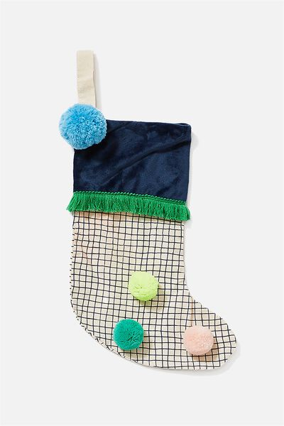 Kids Large Stocking, POM POMS