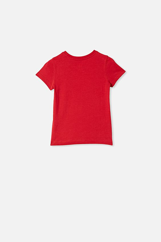 Penelope Short Sleeve Tee, LUCKY RED/LUCKY