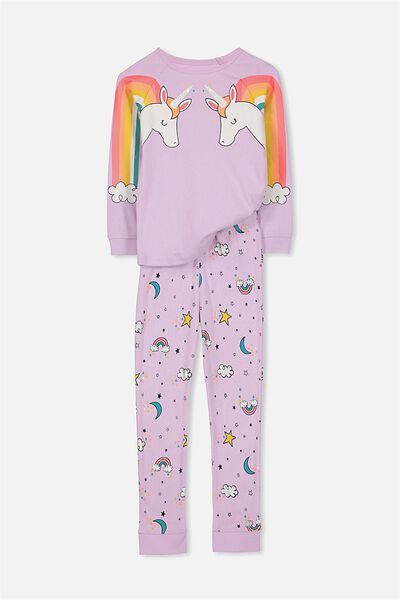 Heidi Girls Long Sleeve PJ Set, UNICORN DREAMS