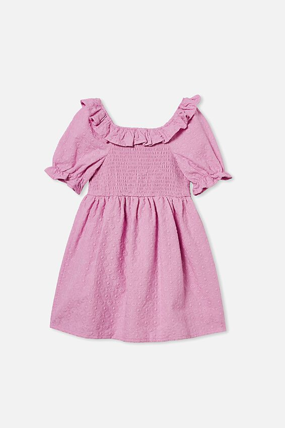 Lilliana Short Sleeve Dress, PURPLE PARADISE