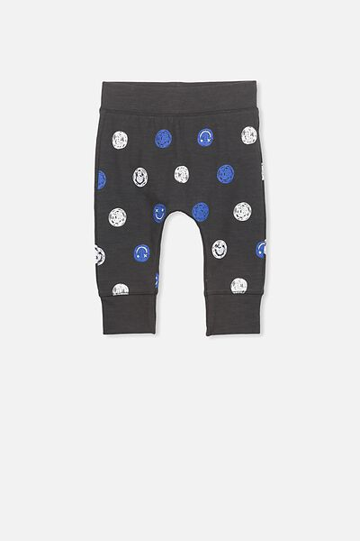 Mini Legging, PHANTOM/SMILEY FACES