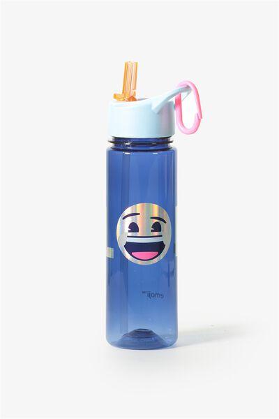 Summer Drink Bottle, BLUE EMOJI LOL