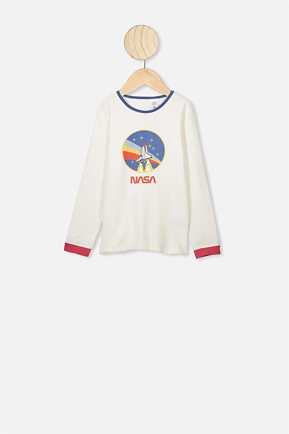 Orlando Long Sleeve Pyjama Set, LCN NAS VANILLA NASA SPACESHIP