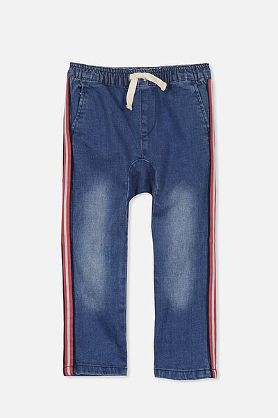 Iggy Pant, LT DENIM/STRIPE TAPE