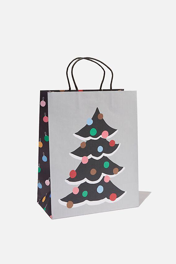 Christmas Gift Bag - Medium, PEACE AND JOY