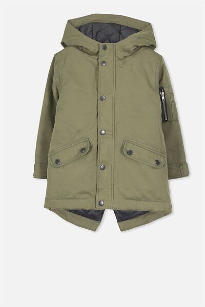 Easton Parka, CLIVE GREEN