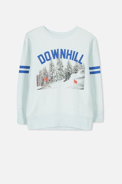 Lachy Crew Sweater, COOL BLUE/DOWNHILL