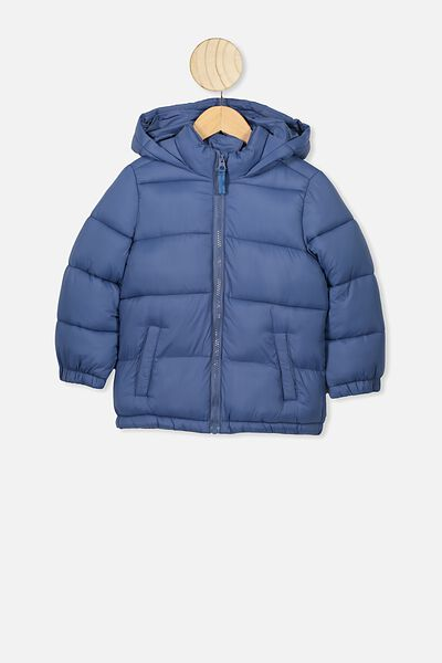 Frankie Puffer Jacket, PETTY BLUE DINO