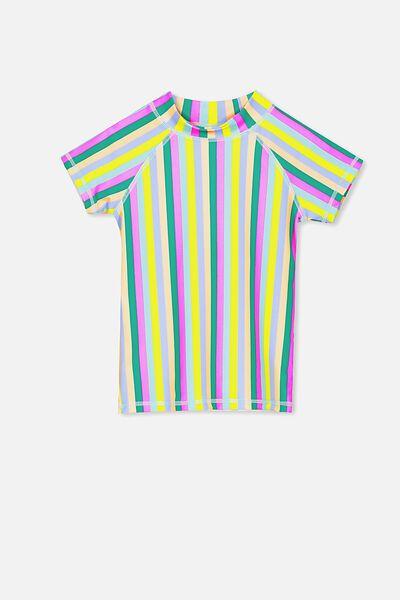Hamilton Short Sleeve Rashie, RAINBOW STRIPE