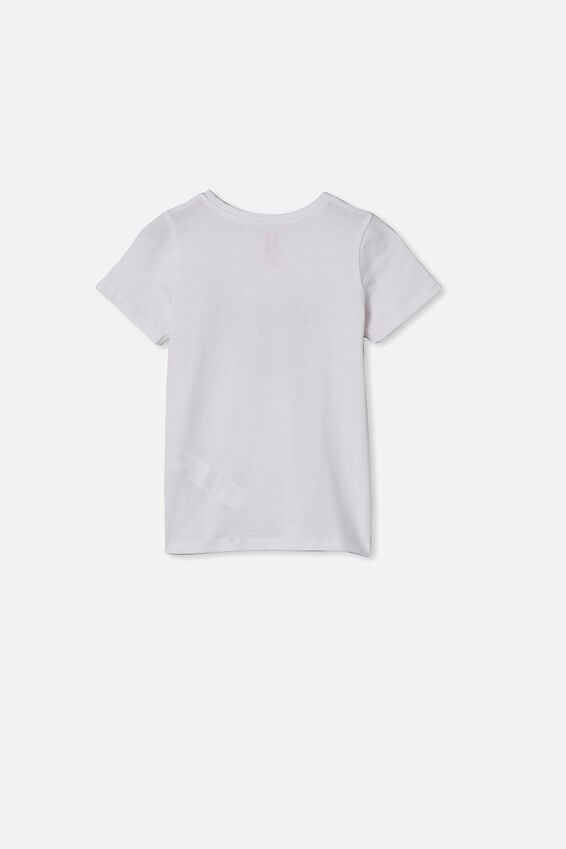 Penelope Short Sleeve Tee, WHITE/WATERCOLOUR HEART
