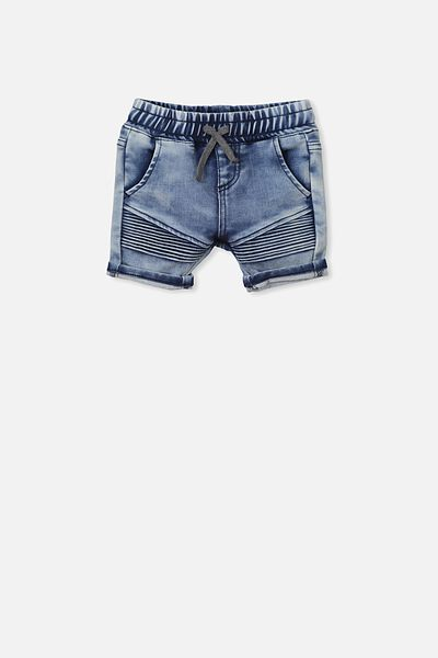 Carter Moto Short, DENIM WASH