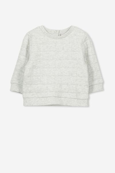 Scout Quilted Sweater, CLOUD MARLE