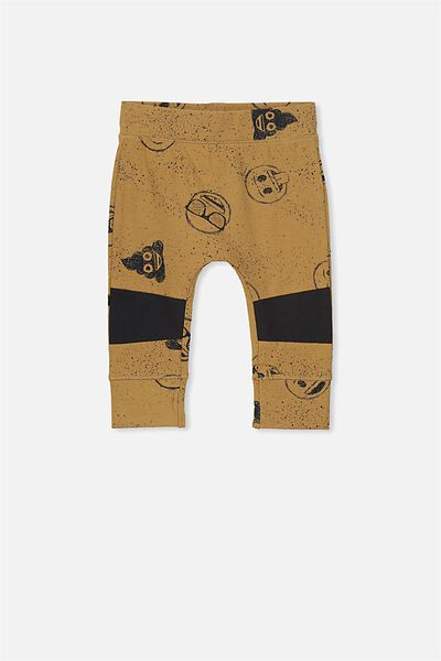 License Mini Legging, BURNT BISCUIT/EMOJI PAINT