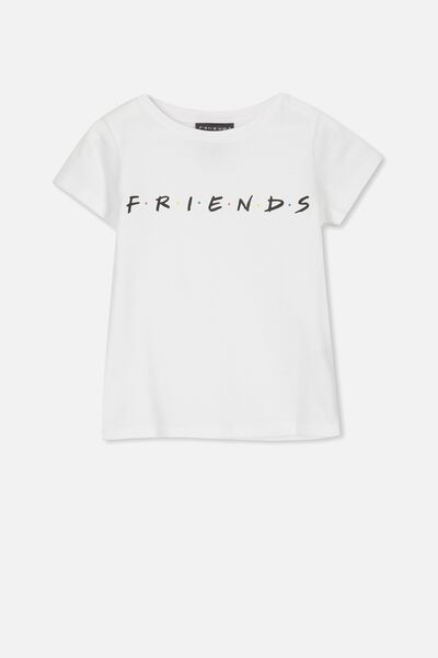 Lux Short Sleeve Tee, LCN WB WHITE/FRIENDS