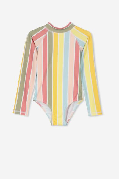 Lydia One Piece, MULTI COLOUR STRIPE