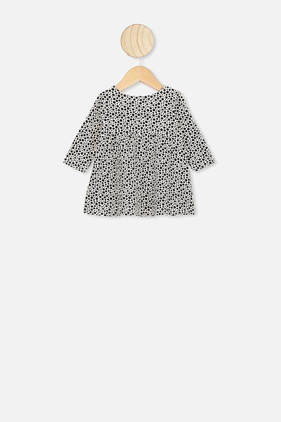 Molly Long Sleeve Dress, BLACK/EDITH FLORAL