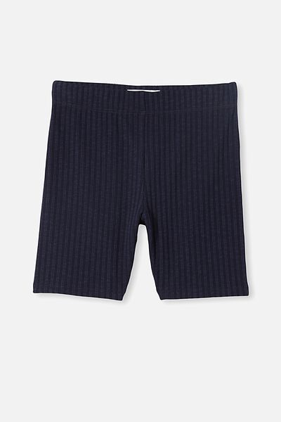 Hailey Bike Short, NAVY BLAZER RIB