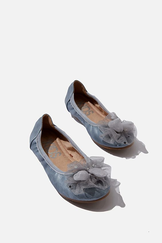 Primo Ballet Flat - Tulle Bunny, RAIN CLOUD TULLE BUNNY