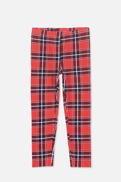 Huggie Tights, RALLY RED/CHECK