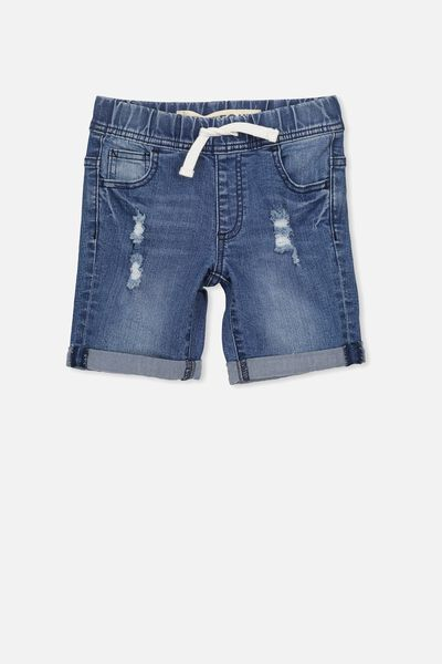Joey Denim Short, WASHED RIVER MID BLUE