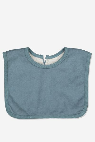 The Everyday Bib, DEEP BLUE TOWELLING