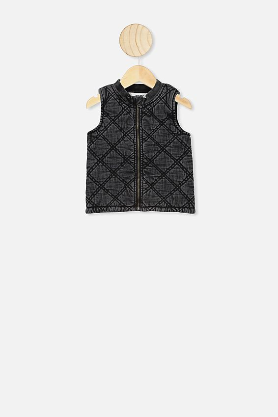 Quilted Vest Development, BLACK