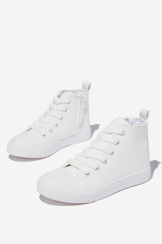 Classic High Top Trainer V, WHITE