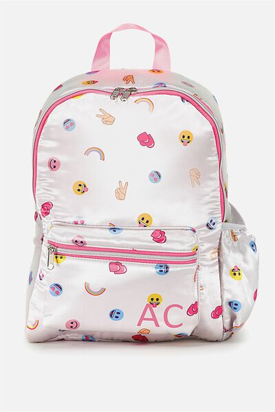 Emoji Personalised Backpack, EMOJI DO YOU SPEAK EMOJI