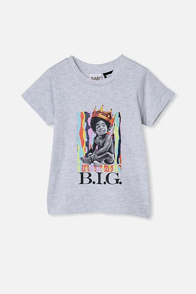 Jamie Short Sleeve Tee-License, LCN MT CLOUD MARLE/BABY BIGGIE