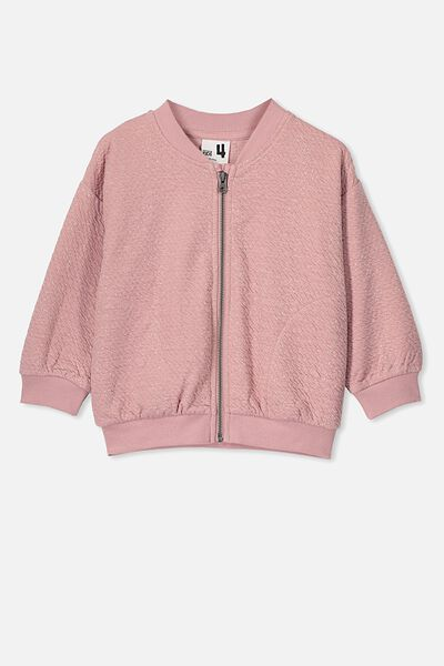 Marin Bomber Zip Through, SWEET BLUSH/SLUB TEXTURE
