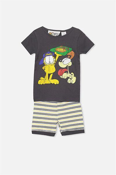 Joshua Short Sleeve Pyjama Set, LCN GARFIELD