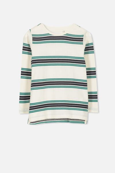 Tom Long Sleeve Tee, STRIPES/SIS