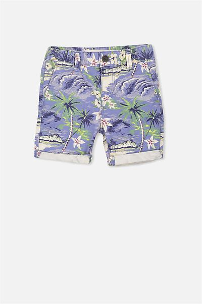 William Walk Short, COOL BLUE/TROPICAL