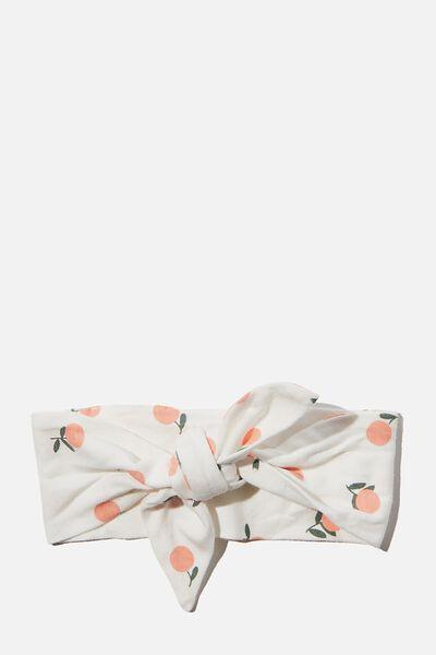The Tie Headband, VANILLA/LUCKY MANDARINS