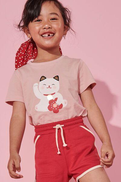 Penelope Short Sleeve Tee, ZEPHYR/LUCKY CAT/MAX