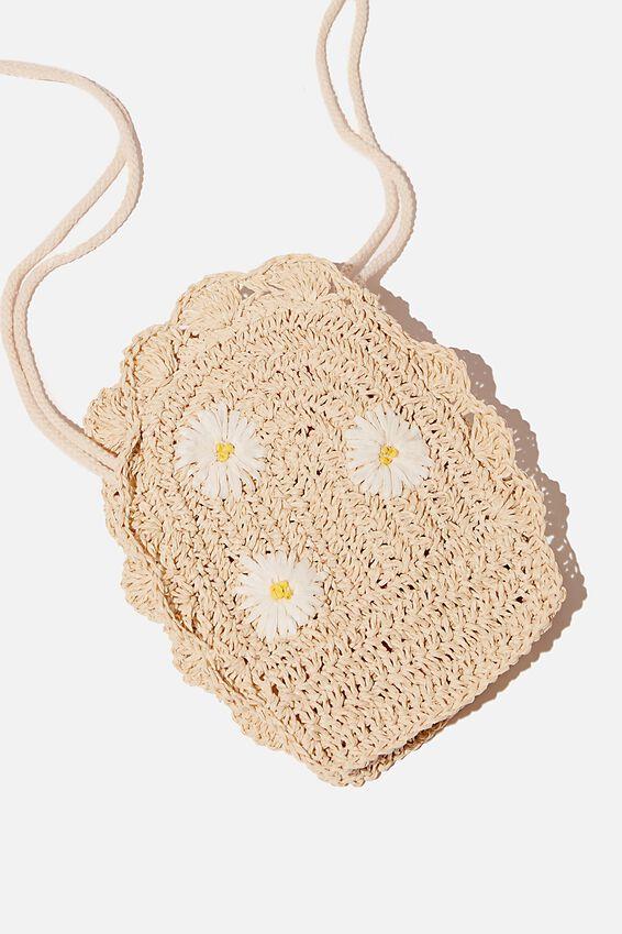 Raffia Maddie Fashion Bag, RAFFIA DAISIES