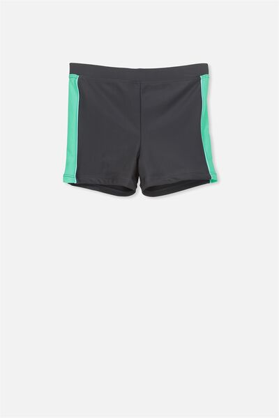 Billy Boyleg Swim Trunk, PHANTOM/ECO GREEN SPLICED
