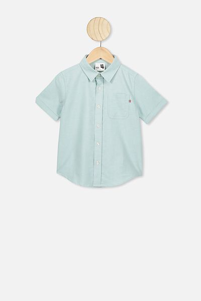 Resort Short Sleeve Shirt, TEAL OXFORD