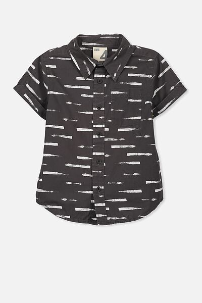 Jackson Short Sleeve Shirt, BLACK DASH