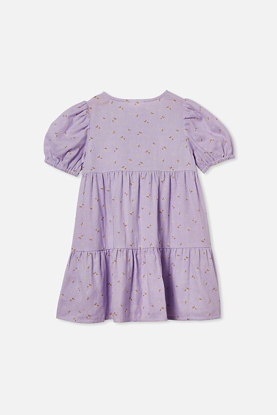 Girls Meredith Dress, VINTAGE LILAC/SMALL FLOWERS