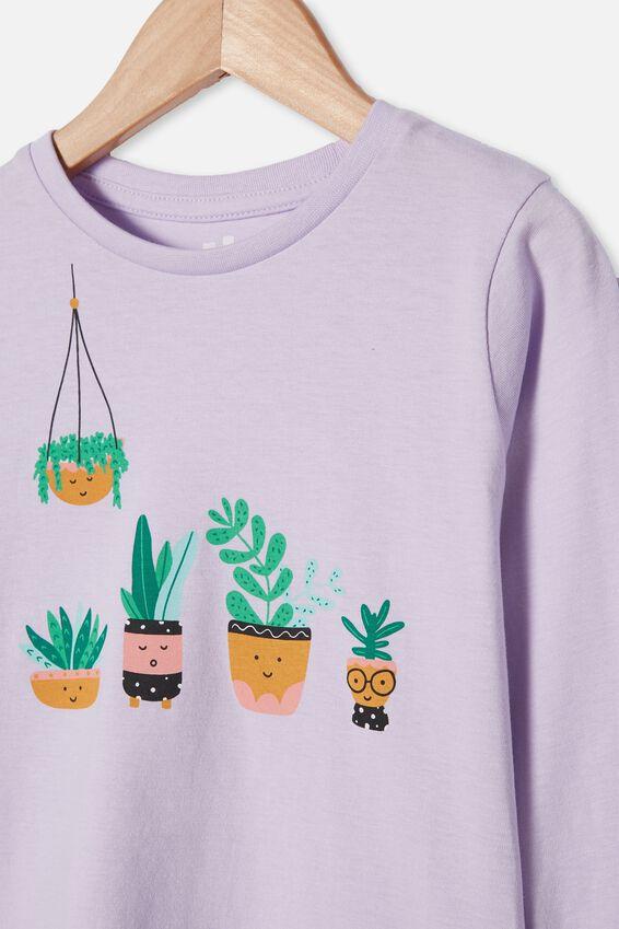 Penelope Long Sleeve Tee, VINTAGE LILAC/HAPPY PLANTS