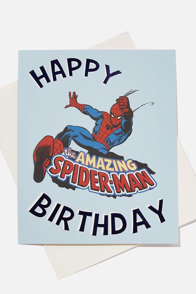 Licensed Birthday Gift Card, LCN SPIDERMAN SKY HAZE