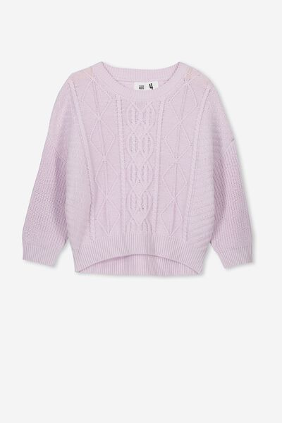 Deonne Knit Jumper, ORCHID HUSH