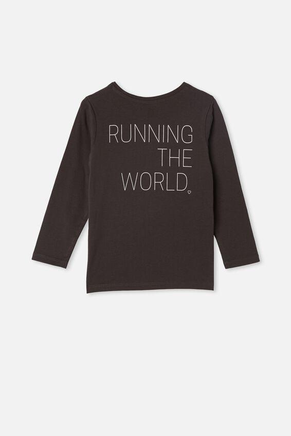 Penelope Long Sleeve Tee, PHANTOM/RUNNING THE WORLD
