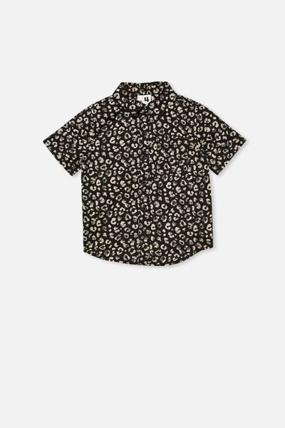 Resort Short Sleeve Shirt, LEOPARD PRINT/PHANTOM